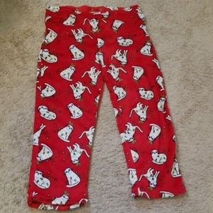 Fluffy fleece sleep pants